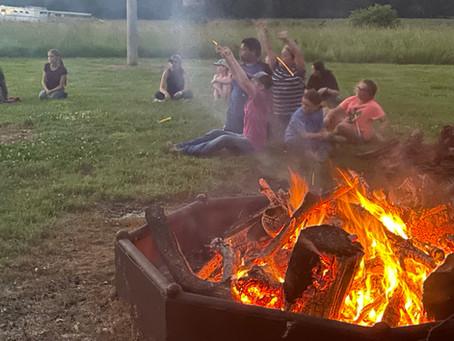 6-10-21 Horsemanship Bible Camp Evening Worship and Bon fire