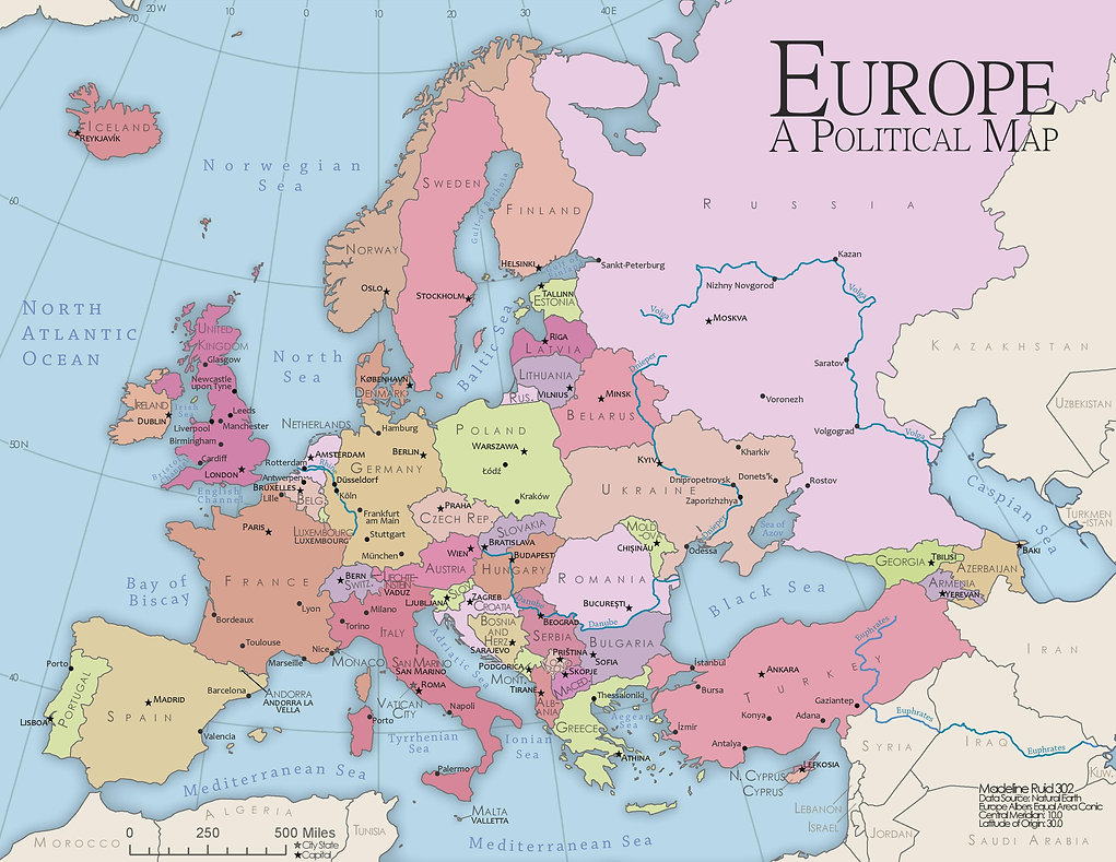 Madelineruid Map Of Europe
