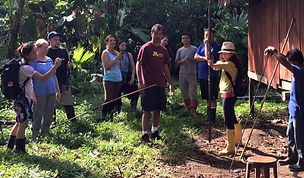 Cal Poly students in Costa Rica