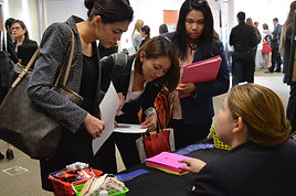 Students at the Career Expo
