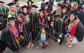Collins College graduates before the 2015 commencement ceremony