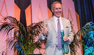 Robert D. Olson accepts the Mondavi Award