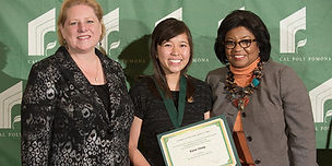 Lea Dopson, Kyra Yong, President Soraya M. Coley