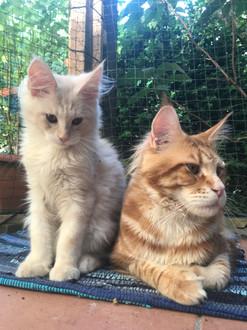 Poldi mit Sohn Berti