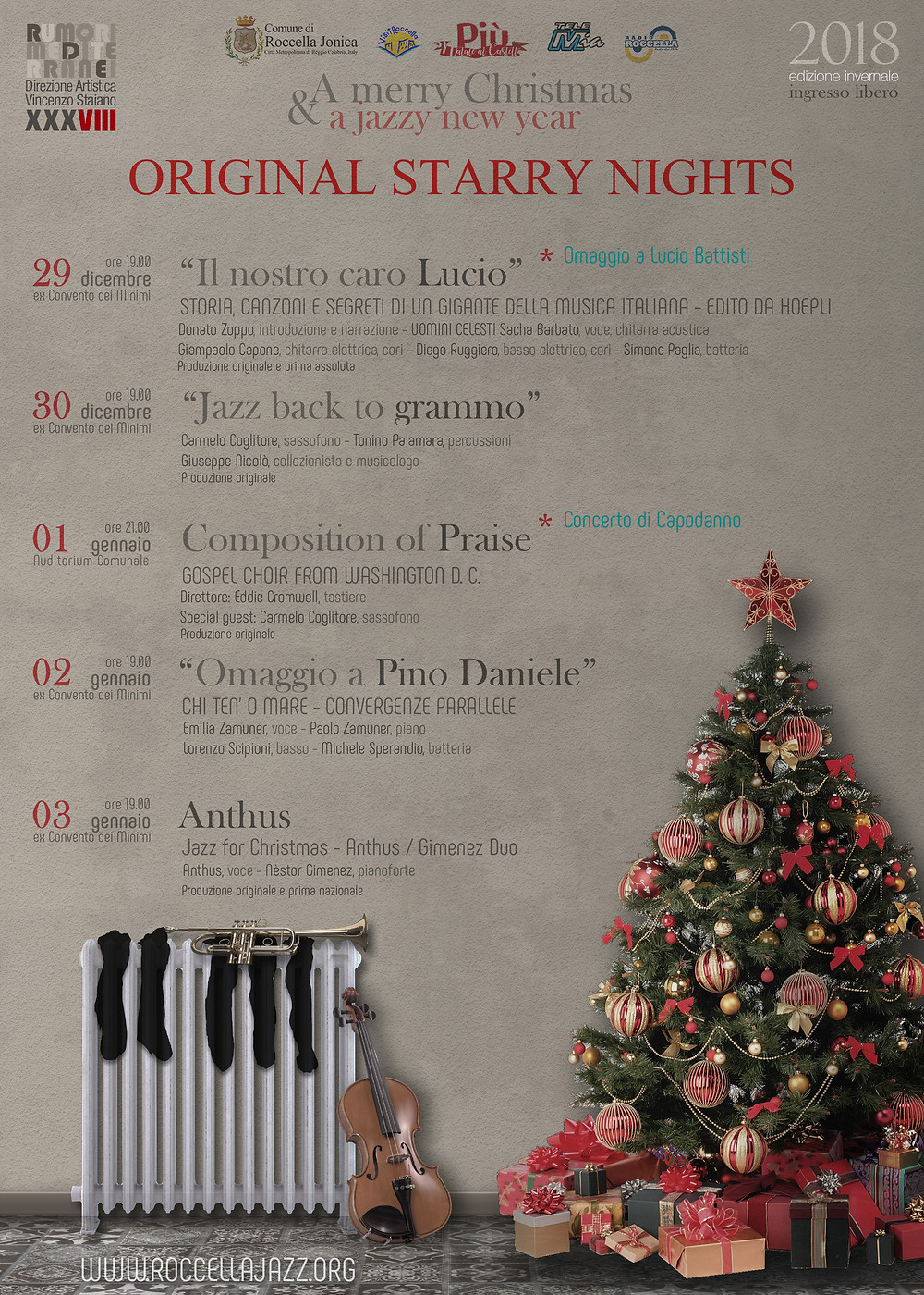 Programma Roccella Jazz 2018 winter session