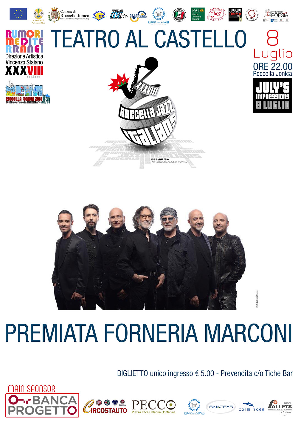 Premiata Forneria Marconi PFM Roccella Jazz Festival 2018
