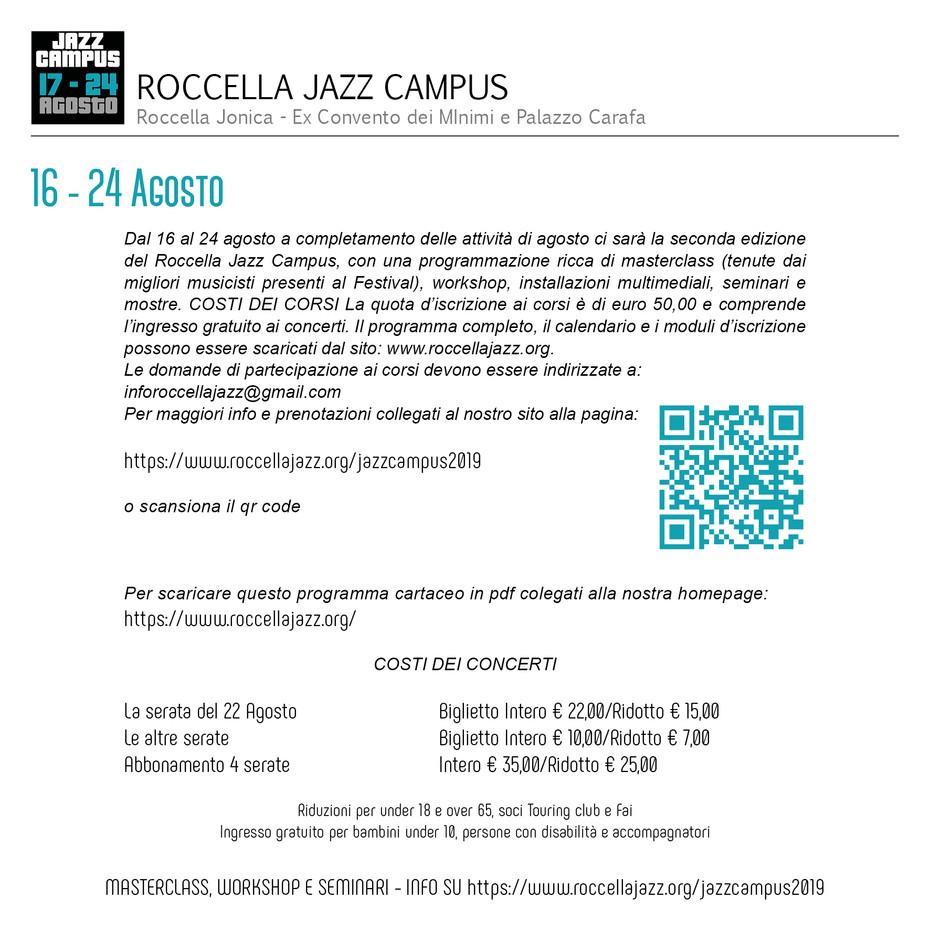 Calendario Concerti Calabria.Roccella Jazz Festival Della Calabria Roccella Jazz Festival