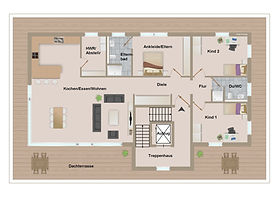 Gebaeude F Grundriss Penthousewohnung 1