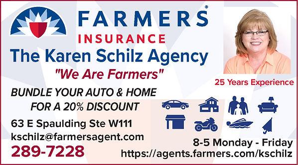 FARMERS INSURANCE The Karen Schilz Agency 63 E Spaulding Ave #W111 Pueblo West, CO 81007 719-289-7228 https://agents.farmers.com/kschilz