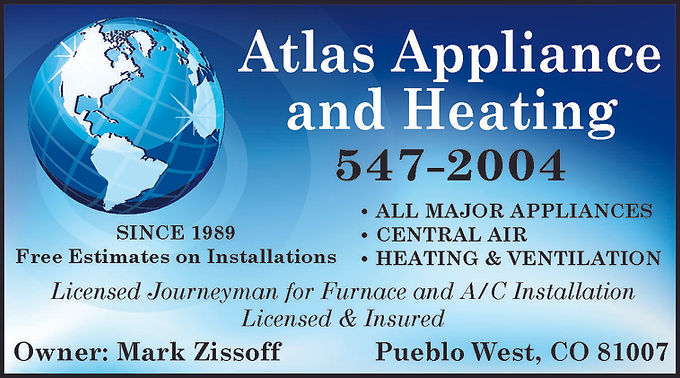 Atlas Appliance & Heating Pueblo West, CO 81007  719-547-2004