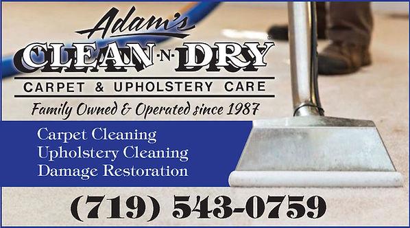 ADAMS CLEAN & DRY 719-543-0759