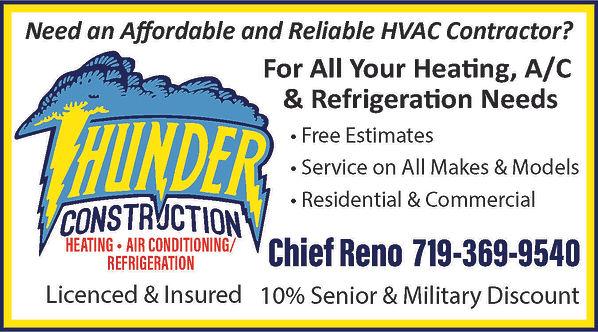 Thunder Construction 1119 S Camino Santiago Dr Pueblo West, CO 81007 719-369-9540