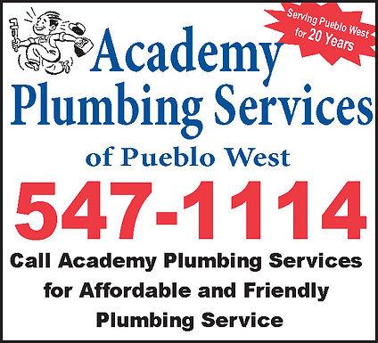 ACADEMY PLUMBING SERVICES 719-547-1114
