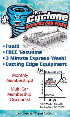 Cyclone Express Car Wash 1009 N Market Plaza Pueblo West, CO  719-717-0957