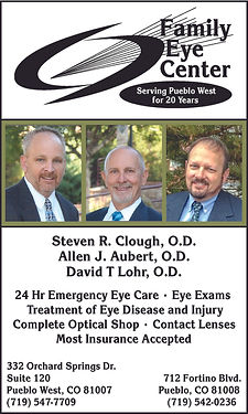 Family Eye Center   332 Orchard Springs Dr. S.  Pueblo West, CO 81007  719-547-7709