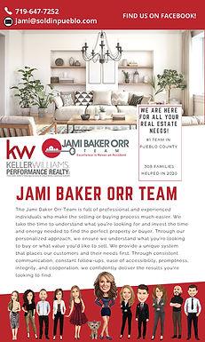 KELLER WILLIAMS PERFORMANCE REALTY JAMI BAKER ORR 154 S McCulloch Blvd  Pueblo West, CO 81007 719-647-7252