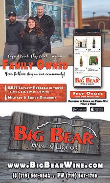 BIG BEAR WINE & LIQUOR 940 Hailey Ln Pueblo West, CO 81007  719-547-1786 www.bigbearwine.com