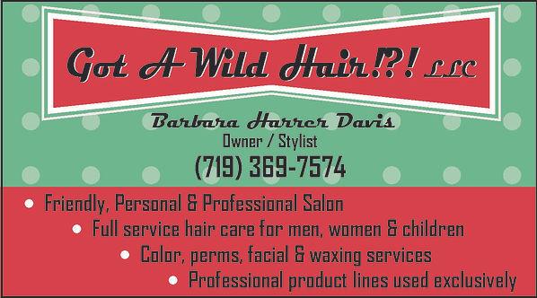 Got a Wild Hair?!  Pueblo West, CO 81007  719-369-7574