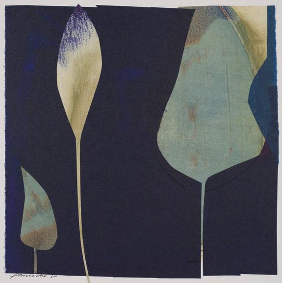 collage de monotypes sur papier de Chine marouflés sur papier Alamigeon 20 x 20 cm 2020