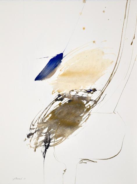 technique mixte sur papier vélin d'Arches 50 x 65 cm 2021