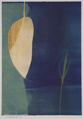 collage de monotypes sur papier de Chine marouflés sur papier Alamigeon et rehaussé à la craie de cire 20 x 30 cm