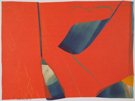 collage de monotypes sur papier de Chine marouflés sur papier Alamigeon et rehaussé à la craie de cire 50 x 75 cm 2020