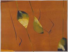 collage de monotypes sur papier de Chine marouflés sur papier Alamigeon et rehaussé à la craie de cire 40 x 60 cm 2020