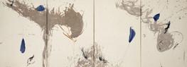 technique miste sur papier du Népal marouflé sur toile 74 x 192 2021