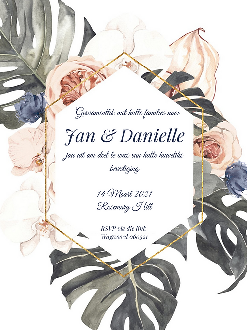 Tropical floral invitation