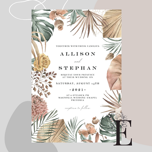 Tropical Boho Invitation