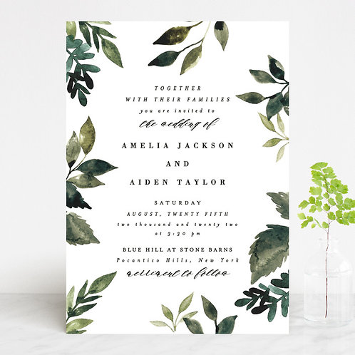 Classically Green Invitation