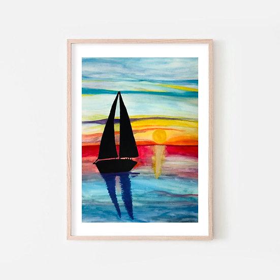 """Lámina """"Verano y el mar"""""""