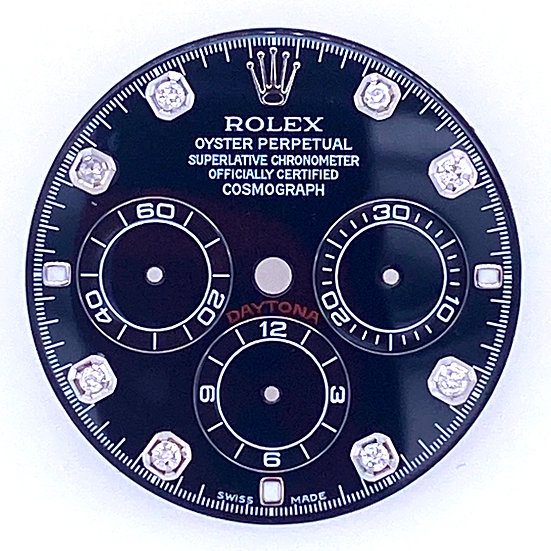 Refined Rolex Daytona Black Dial with diamonds