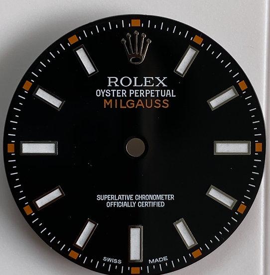 Milgauss black dial for stainless steel models