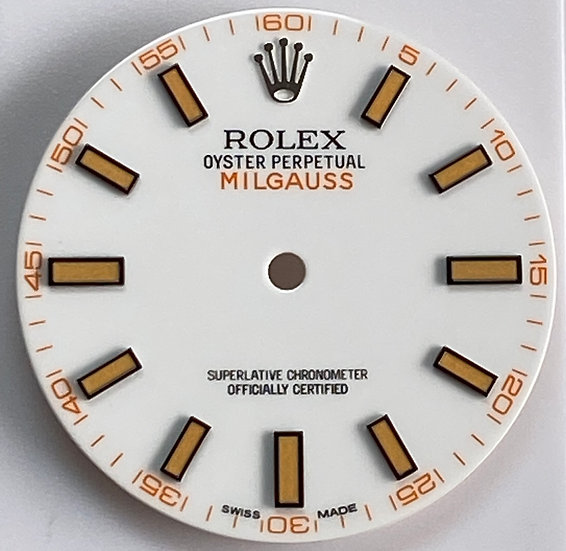 Refined Rolex Milgauss white dial for stainless steel models