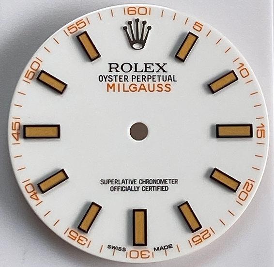 Milgauss white dial for stainless steel models