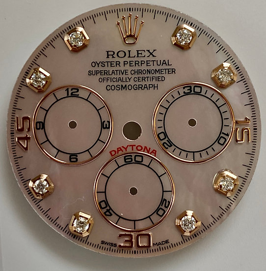 Cosmograph Daytona Pink Mother of pearl Dial with diamonds