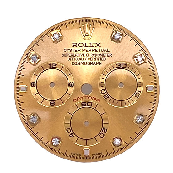 Refined Rolex Cosmograph Daytona Champagne Dial with diamonds