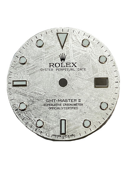 Refined Rolex GMT-Master II Meteorite stone dial for steel or white gold models