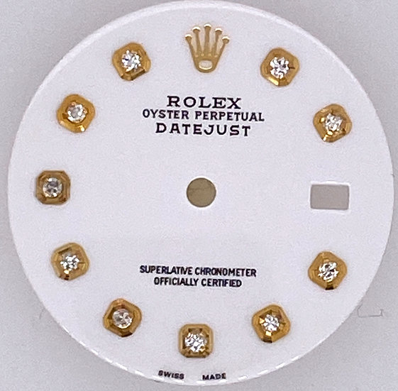 Refined Rolex Datejust White Dial l with diamonds