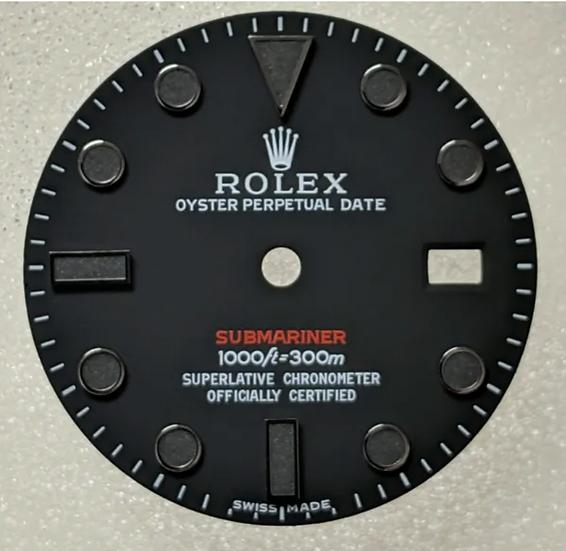 Rolex Submariner Matte Black Dial 1000ft/300m