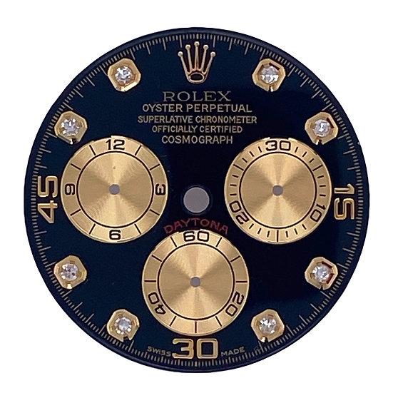 Refined Rolex Cosmograph Daytona Black Dial with diamonds
