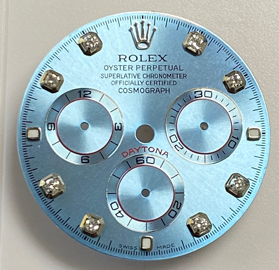 Refined Rolex Cosmograph Daytona Ice Blue Dial with diamonds
