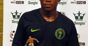 Nigeria Youth International Olakunle trying it out in France