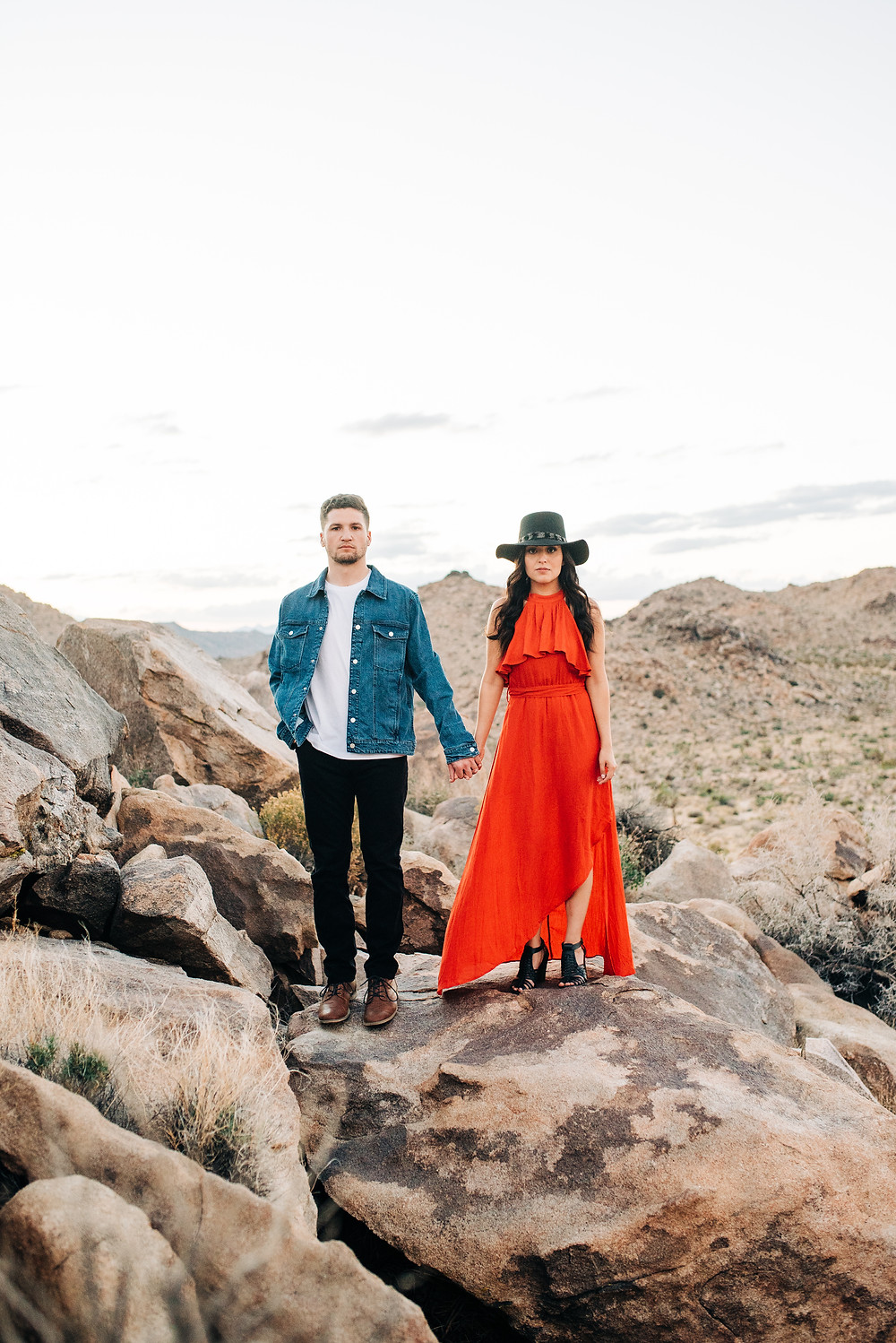 Stylish Joshua Tree Engagement Photos - Corona, Ca wedding and portrait photographer