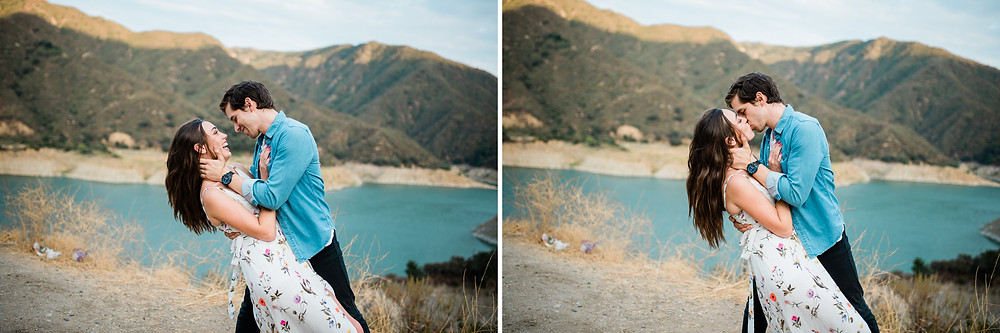 fairytale mountain engagement pictures in California forest