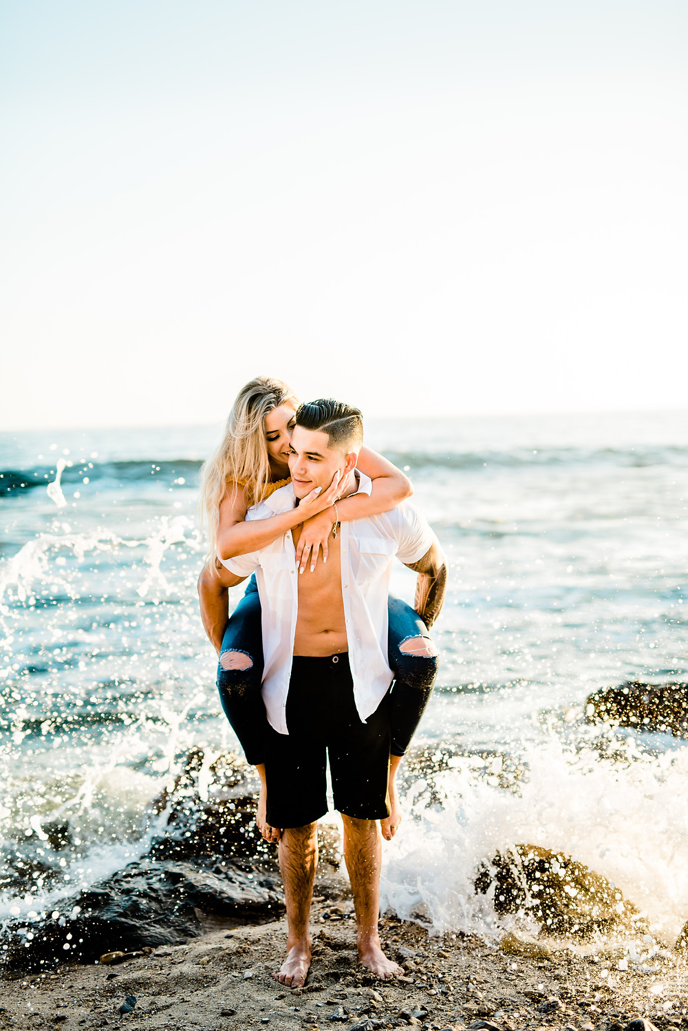 Southern California Wedding and portrait photographer - Couples Beach shoot