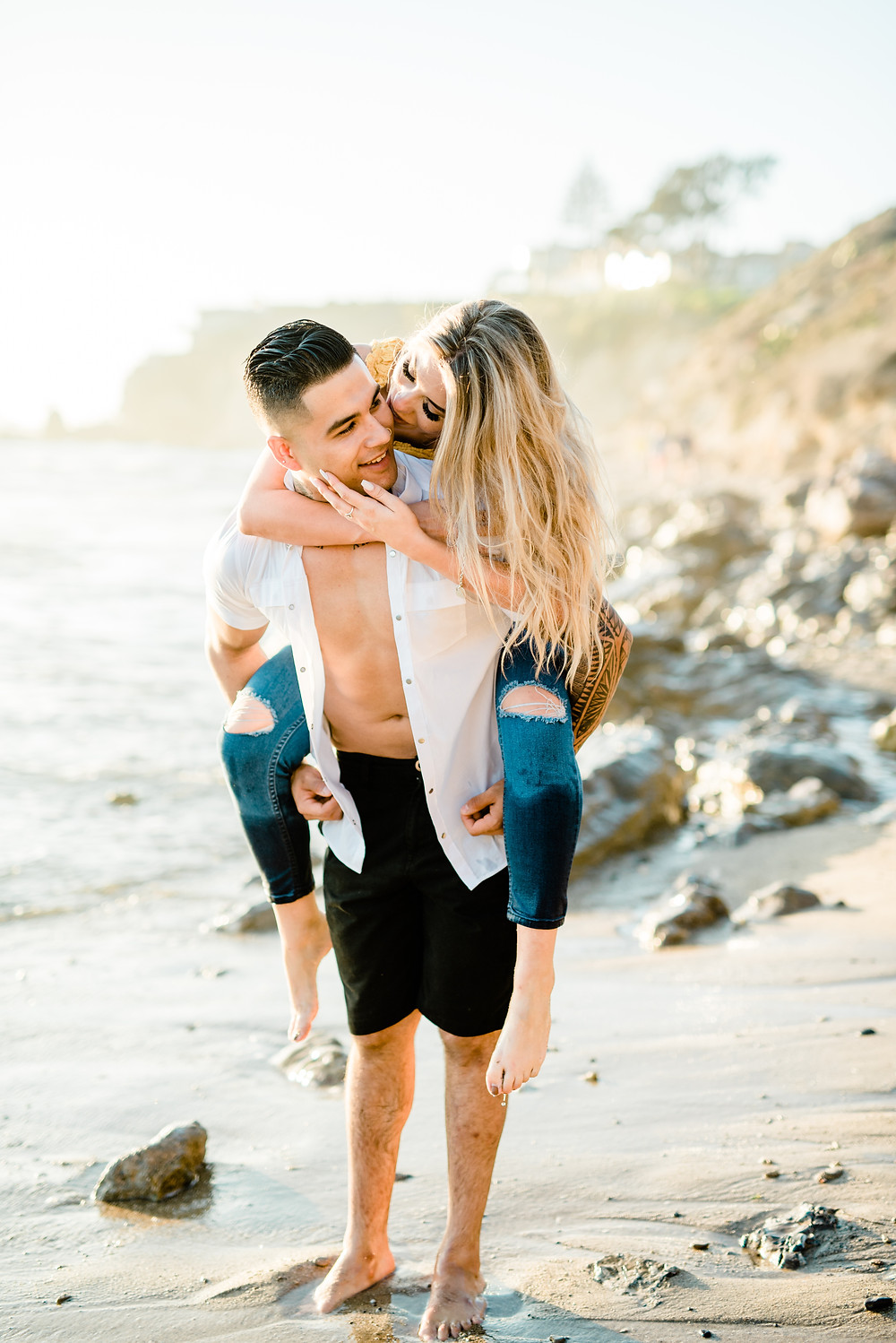Beautiful engagement beach shoot in southern california
