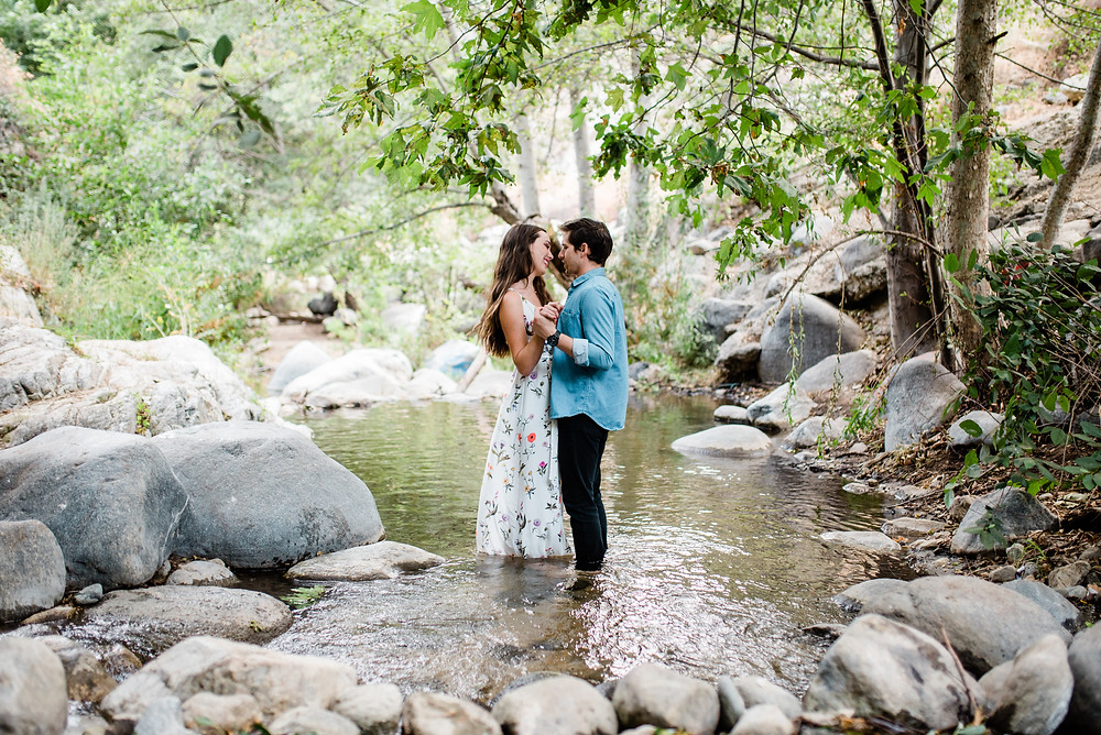 slow dancing mountain engagement pictures