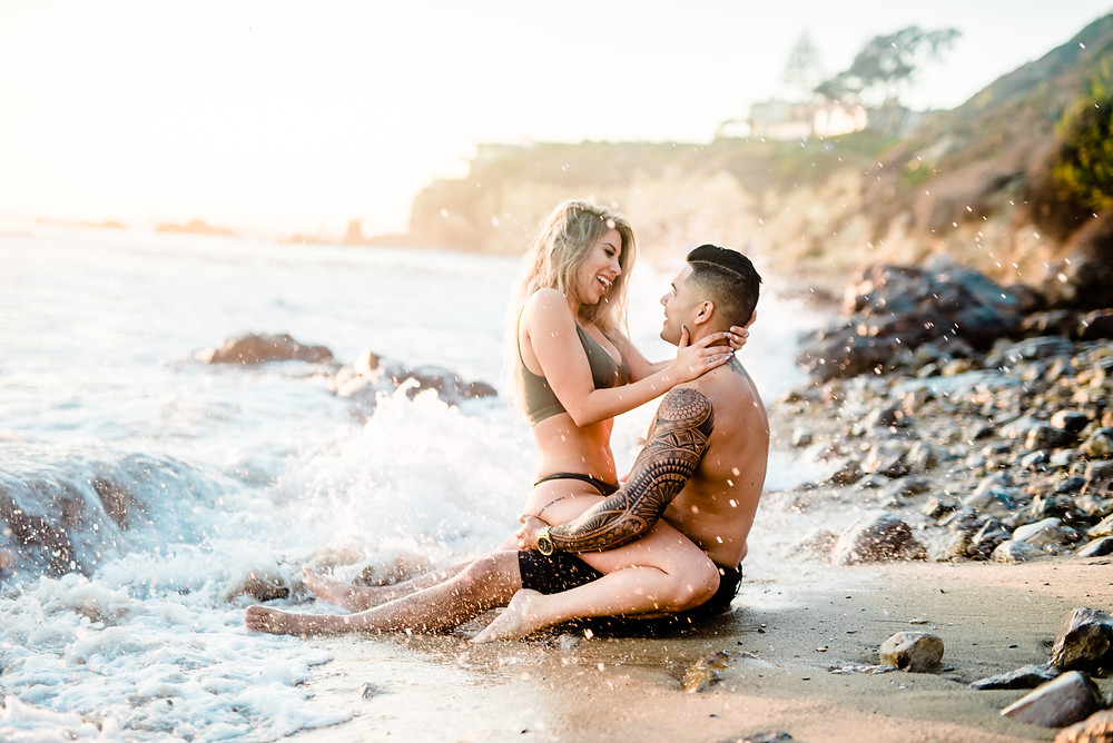 Romantic and Sexy Couples Beach shoot - southern california wedding and portrait photographer